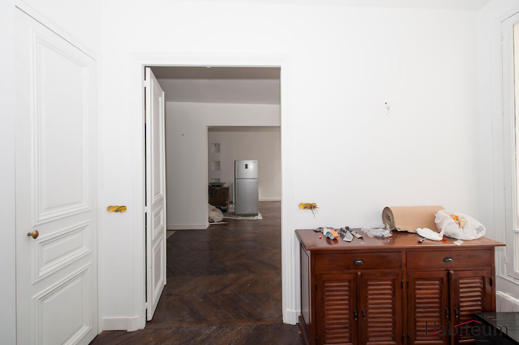 salon de l'appartement avant la rénovation