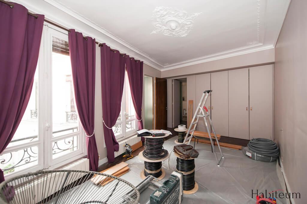 Grande chambre avant la rénovation